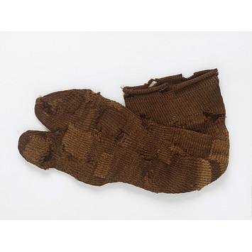 brown 2 toed socks