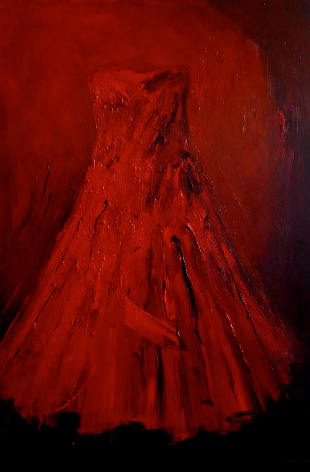 Laura Schiff Bean red dress
