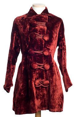 1880 women's red velvet jacket