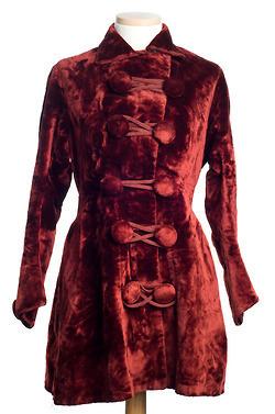 1880 women's red velvet jacket