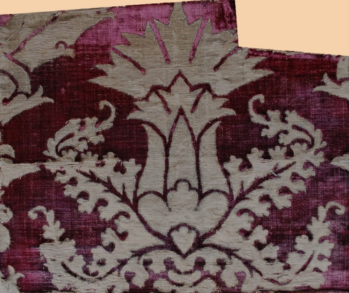 Antique Turkish velvet with silver thread ca 1453-1922