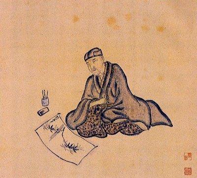 Basho_by_Basho_by_Sugiyama_Sanpû_1647-1732