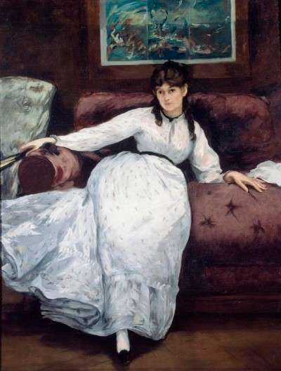 Le Repose by Manet