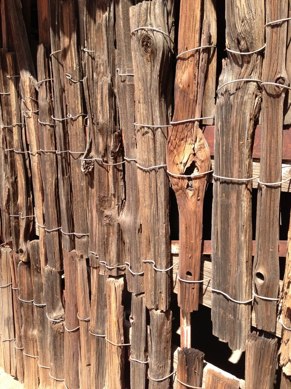 rough wood fences
