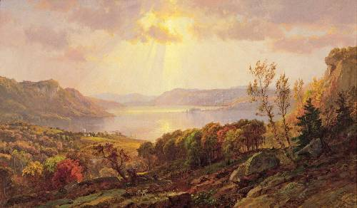 Cropsey On the Hudson Near West Point 1877 Point