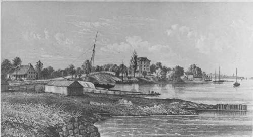 ships in gowanus bay-1867-Brooklyn Public Library