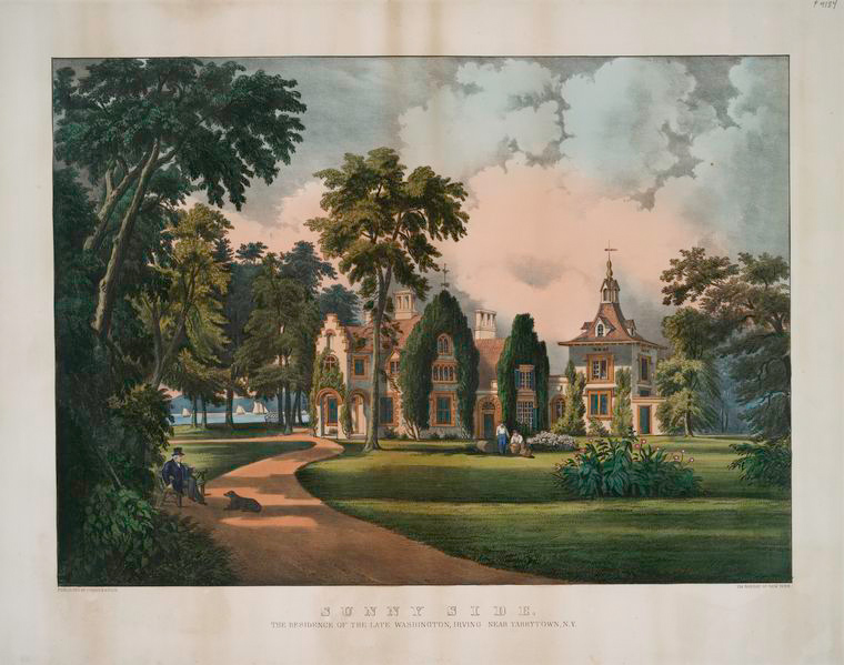 Sunnyside_Tarrytown_Currier_and_Ives