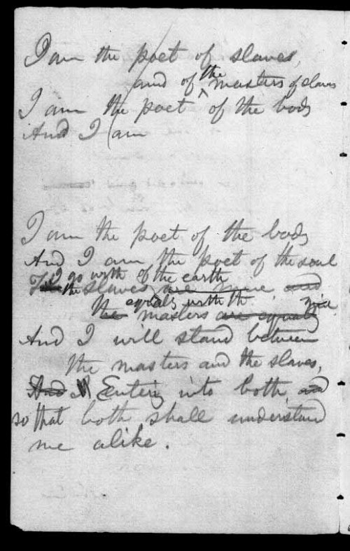 I am the poet of the body 1854