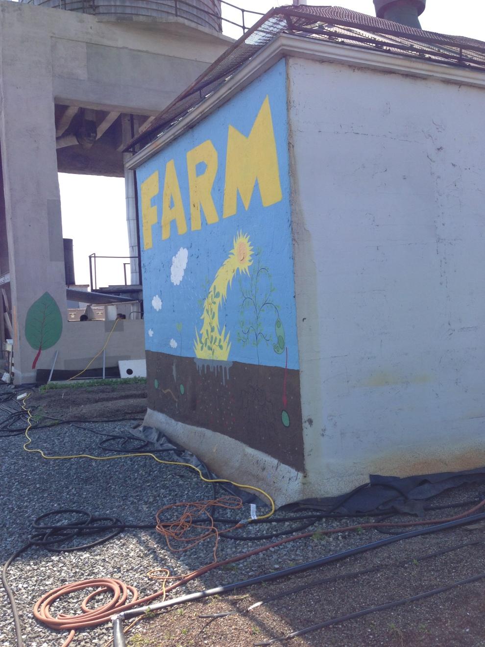 farm sign aslant