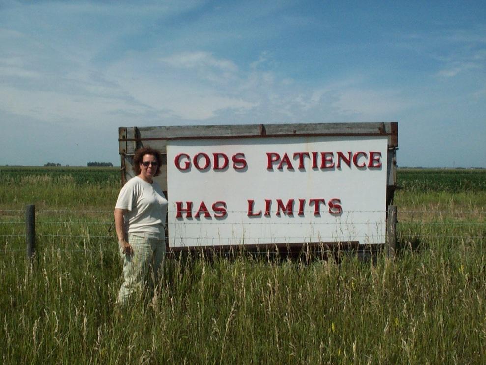god's patience has limits