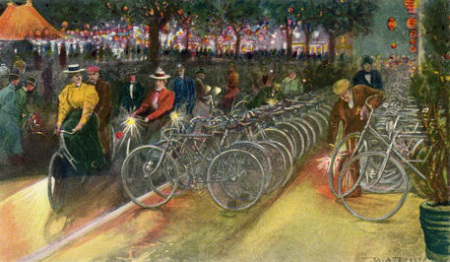 Cyclists in New York, 1890s
