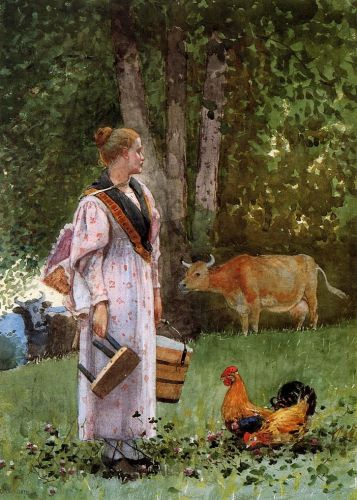 Winslow Homer (American artist, 1836-1910) The Milk Maid