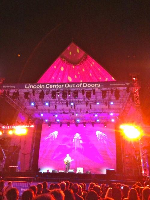 Lowe onstage