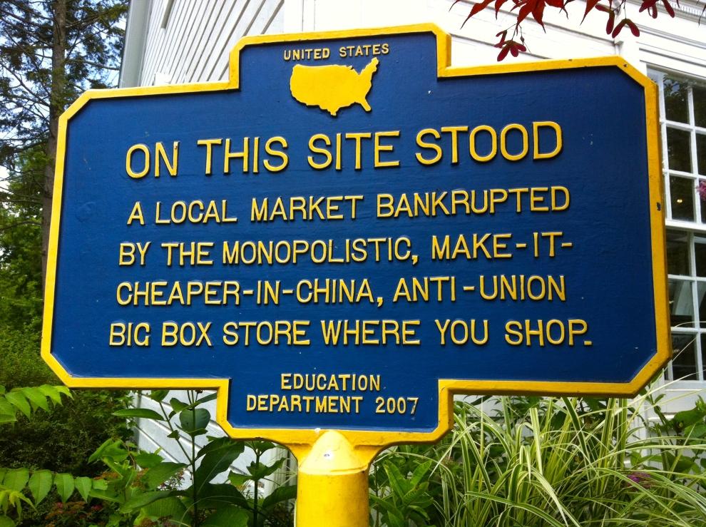 Woodstock sign