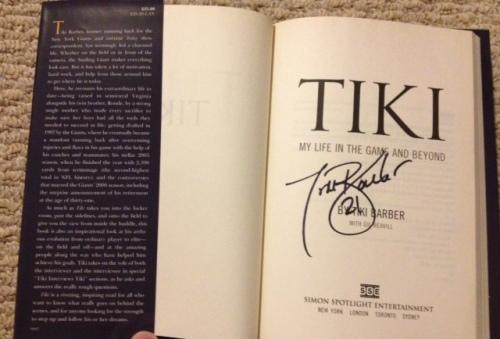 Tiki Barber Book