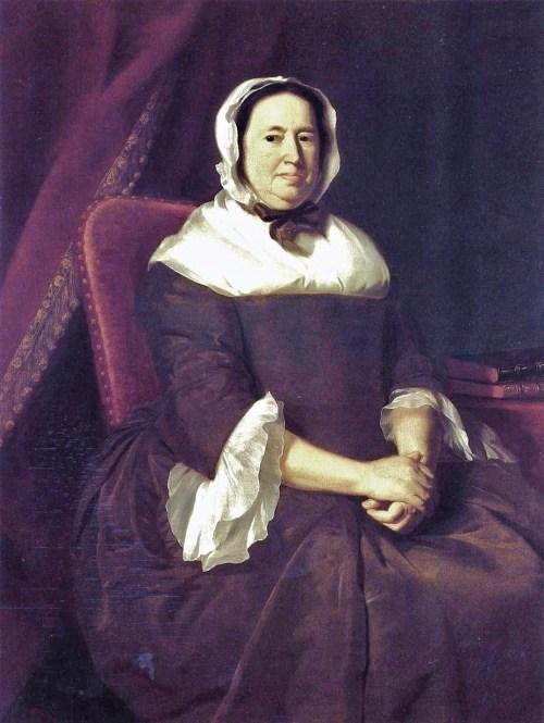 1764 John Singleton Copley (American colonial era artist, 1738-1815)  Mrs_ Samuel Hill, nee Miriam Kilby Thyssen Bornemisza Mus Spain