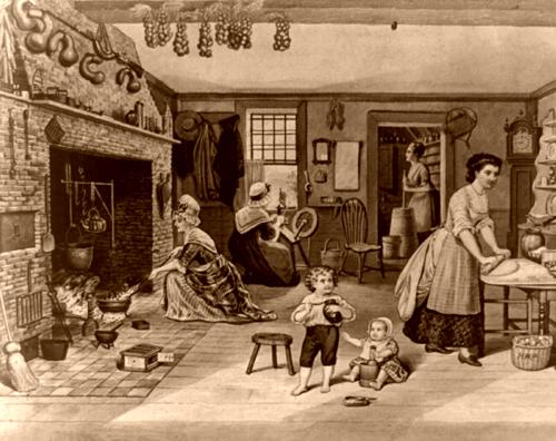 Colonial Women, 1876, H. W. Pierce-500