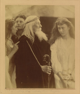 King Lear Alotting His Kingdom to His Three Daughters