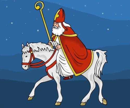 Sint op het paard