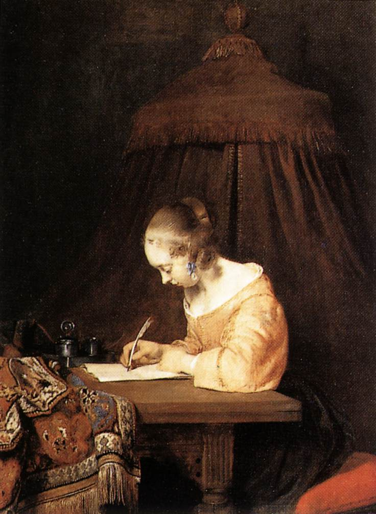 woman writing 2