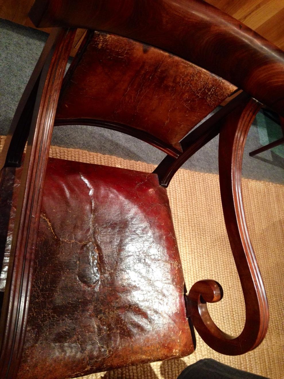 worn chair