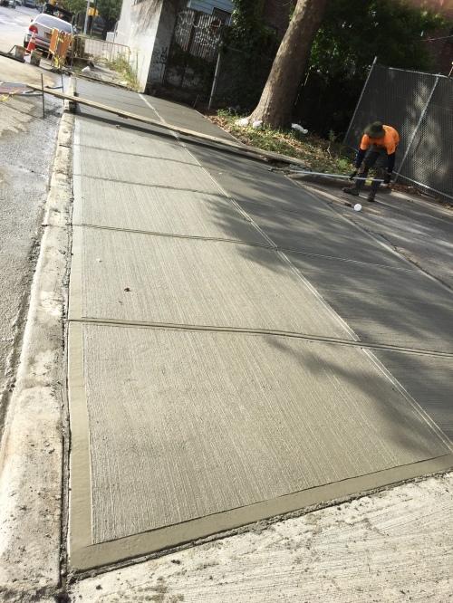 scoring sidewalk